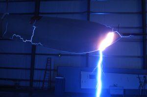high voltage testing on wind turbine blade
