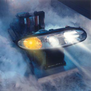 headlamp in the fog