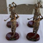NTS Golf Tournament trophies