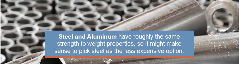 steel and aluminum