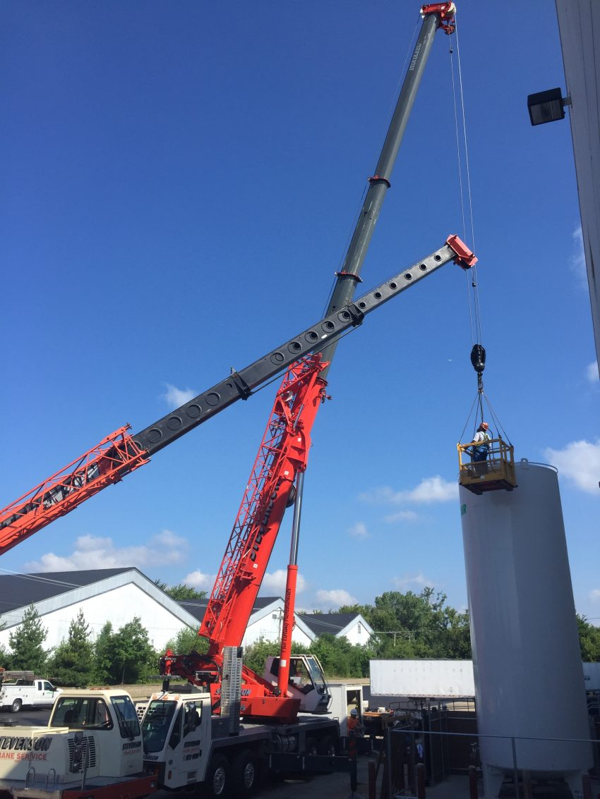 tank installation cranes