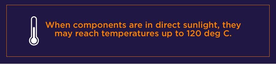 Direct Sunlight Temperature