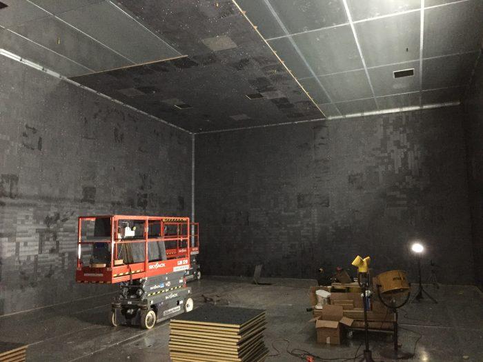 chamber ferrite tile application