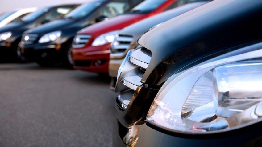 row-of-cars