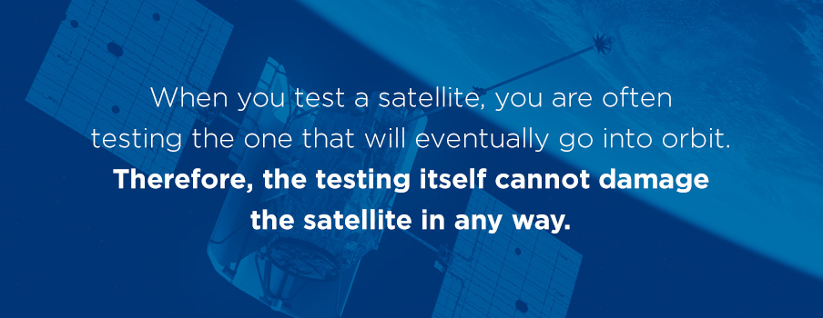 how do satellite tests work