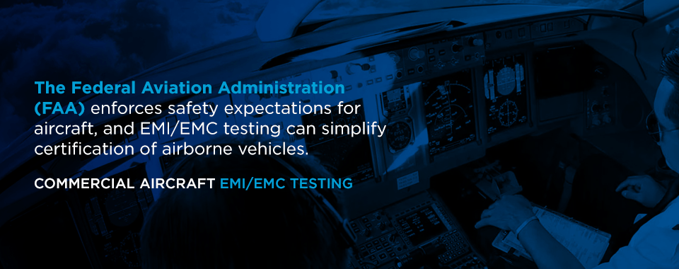 commercial aircraft emi emc testing
