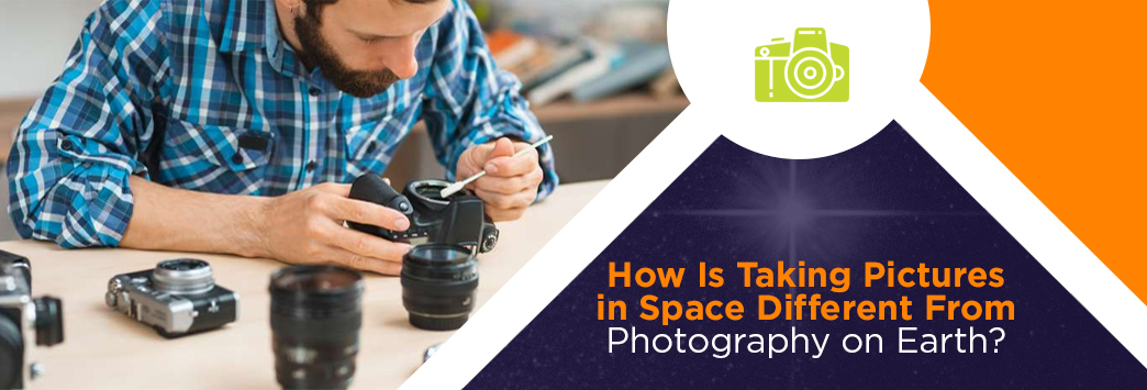 taking pictures in space