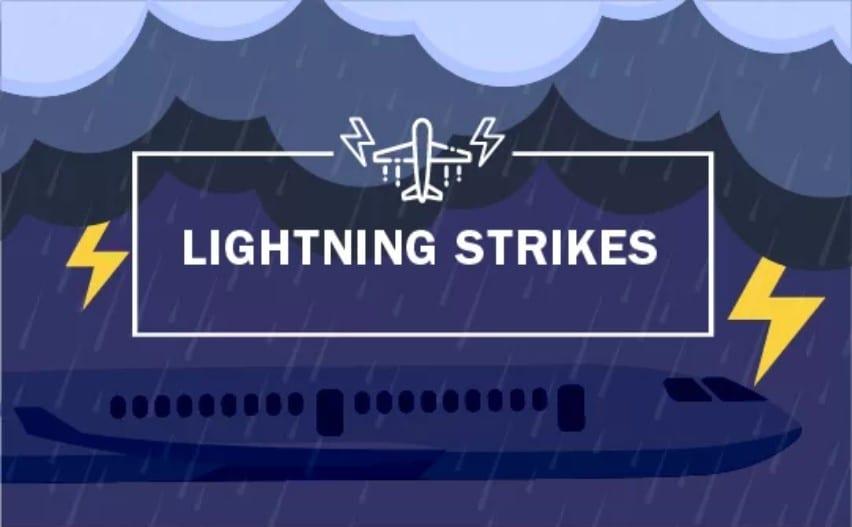 lightning strikes to planes